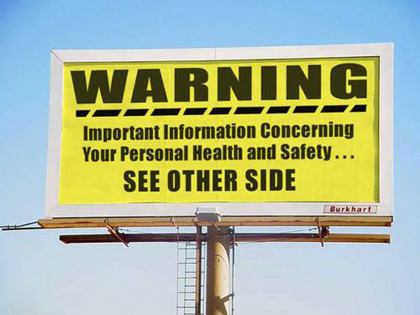 Personal Health Safety Creative Billboard