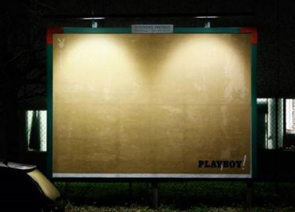 Playboy Light Boobs Creative Billboard