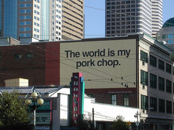Pork Chop World Creative Billboard