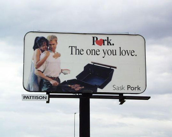Pork Love Creative Billboard