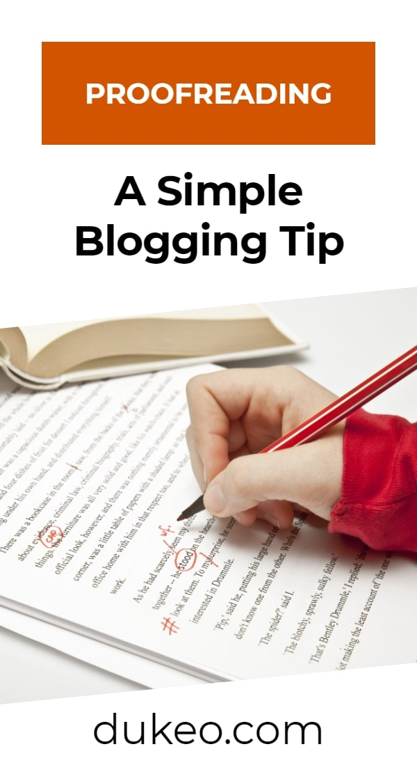 Proofreading: A Simple Blogging Tip