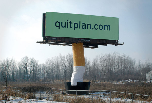 Quit Smoking Creative billboard
