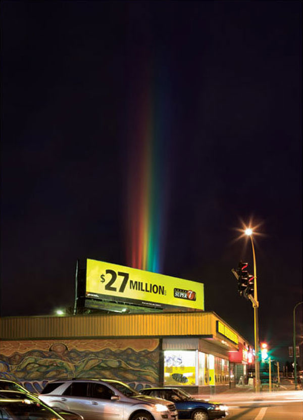 Rainbow Creative Billboard