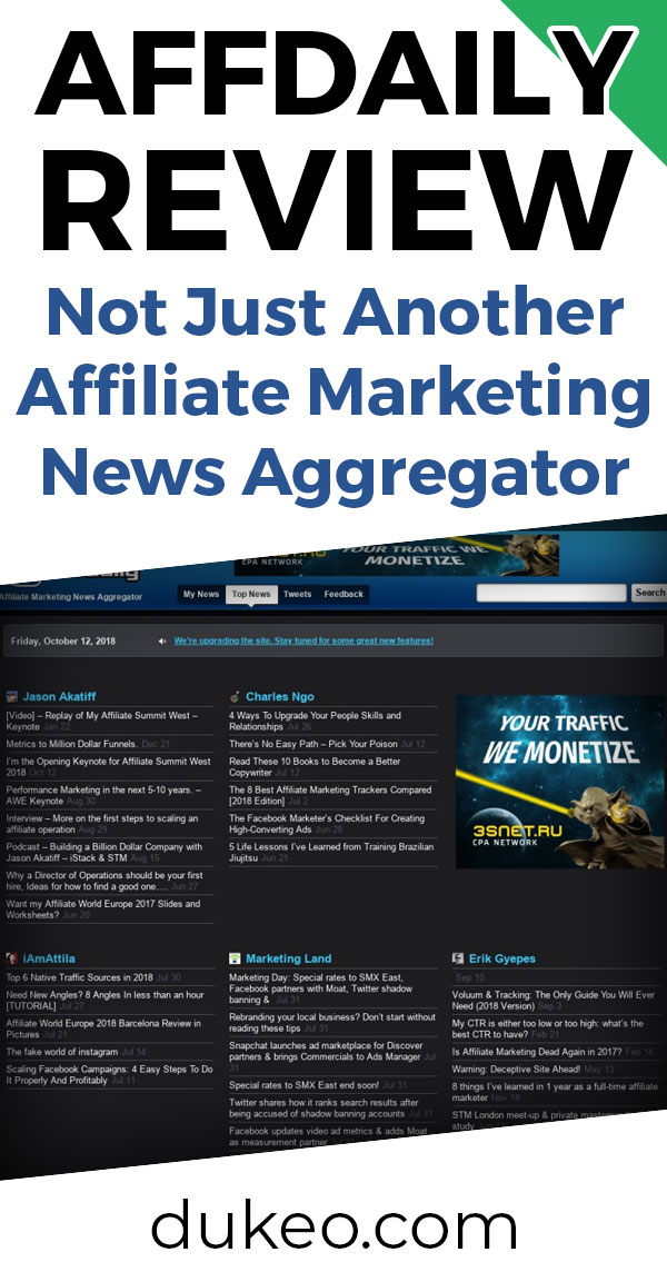 AffDaily Review: Not Just Another Affiliate Marketing News Aggregator