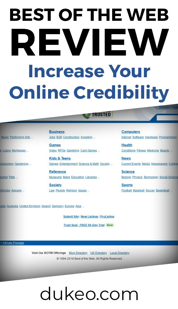 Best Of The Web Review: Increase Your Online Credibility