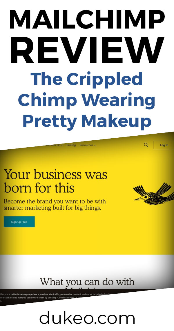 Mailchimp Review: The Crippled Chimp Wearing Pretty Makeup