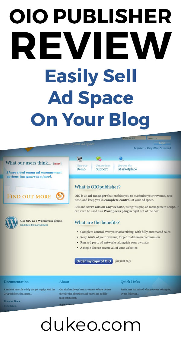 OIO Publisher Review: Easily Sell Ad Space on Your Blog