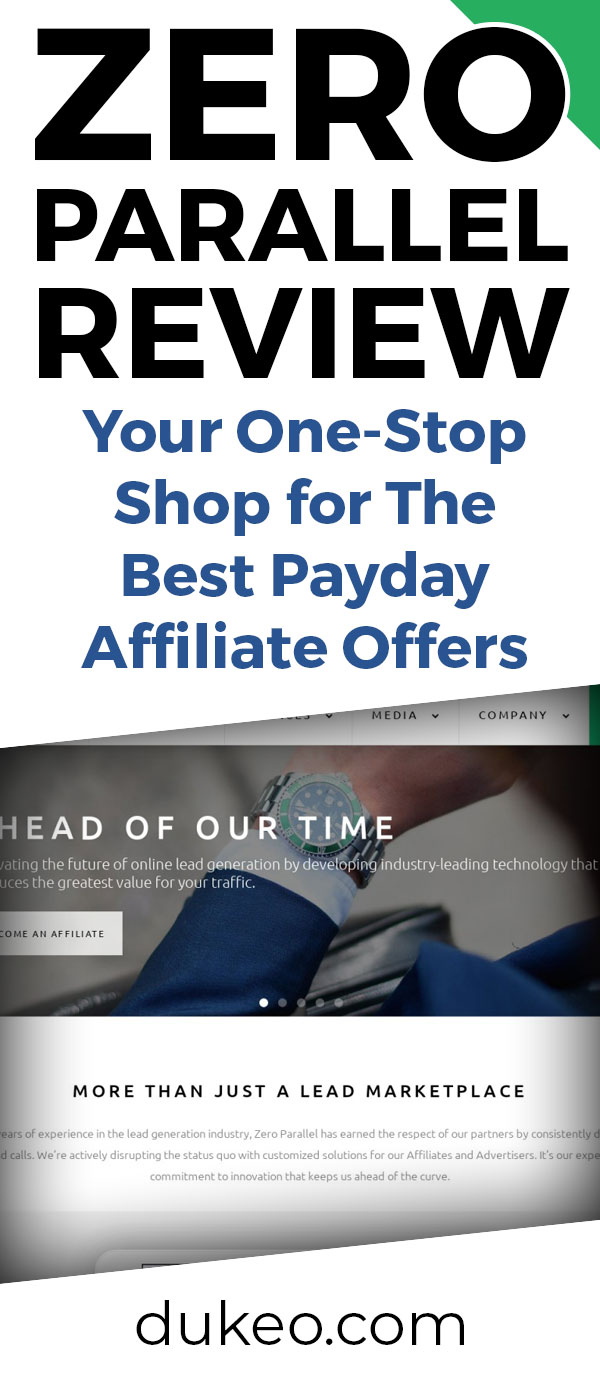 Zero Parallel Review: Your One-Stop Shop for The Best Payday Affiliate Offers