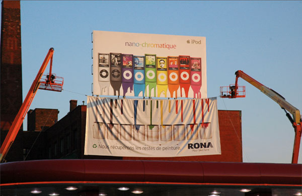 Rona Recycle Apple Nano Paint Creative Billboard