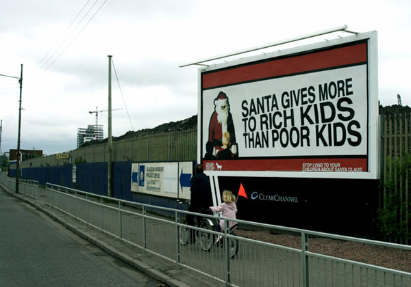 Santa Unfair Creative Billboard