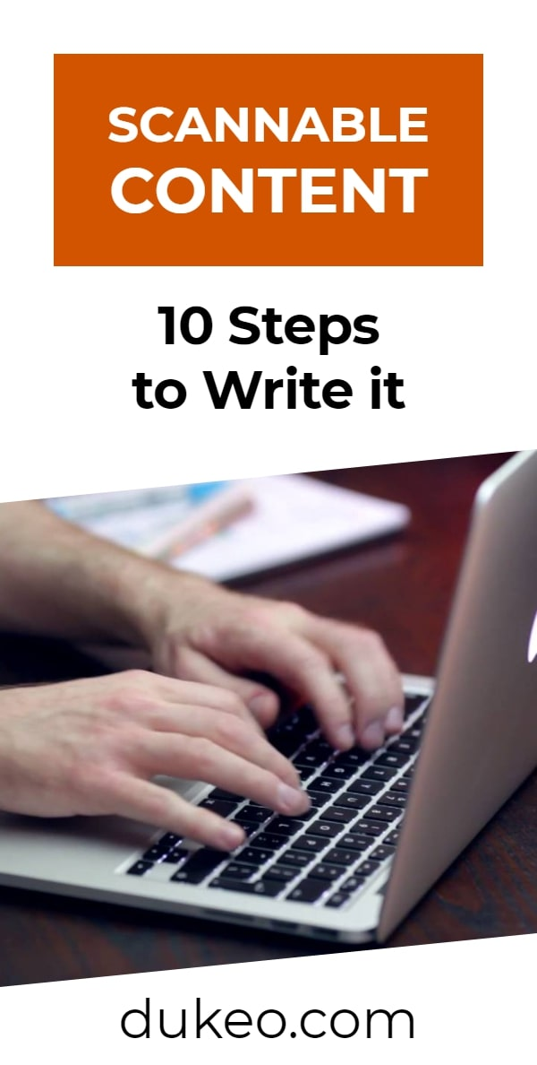 Scannable Content: 10 Steps to Write it