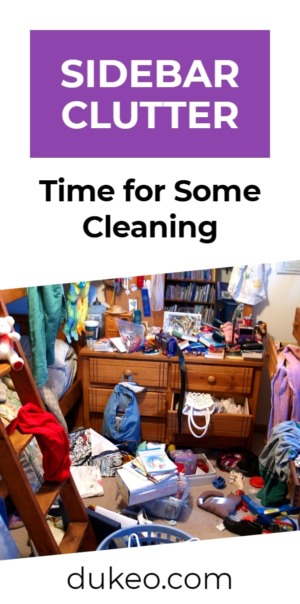 Sidebar Clutter: Time for Some Cleaning