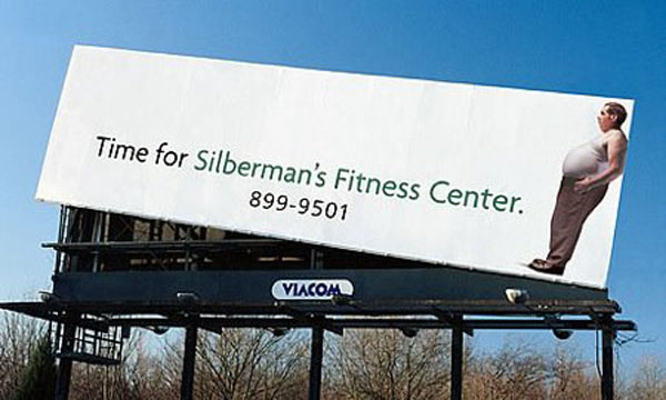 Silberman Fitness Creative Billboard