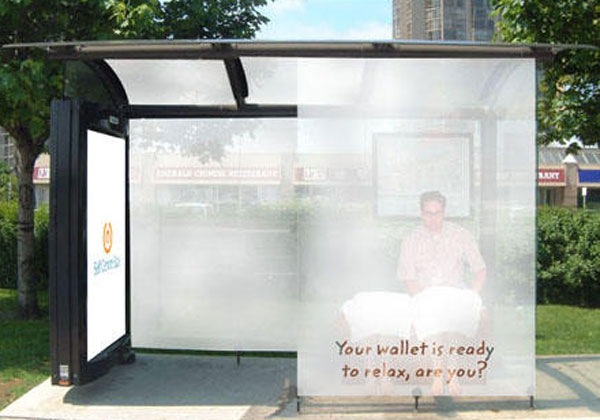 Spa Bus Shelter Creative Billboard