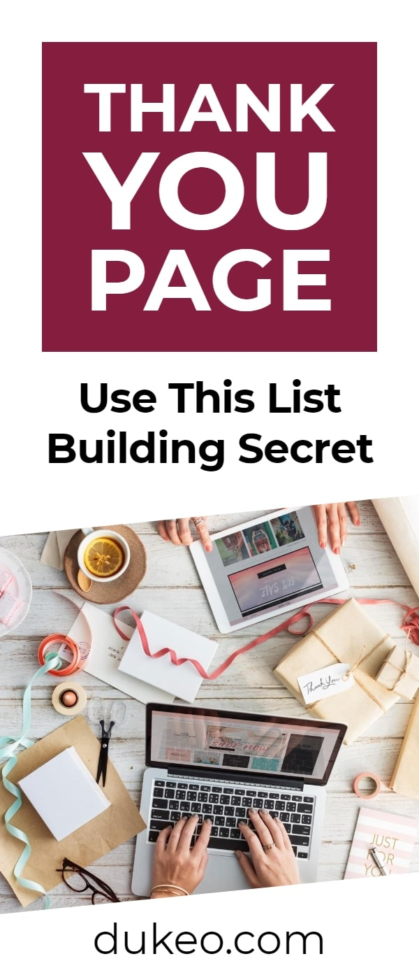 Thank You Page: Use This List Building Secret