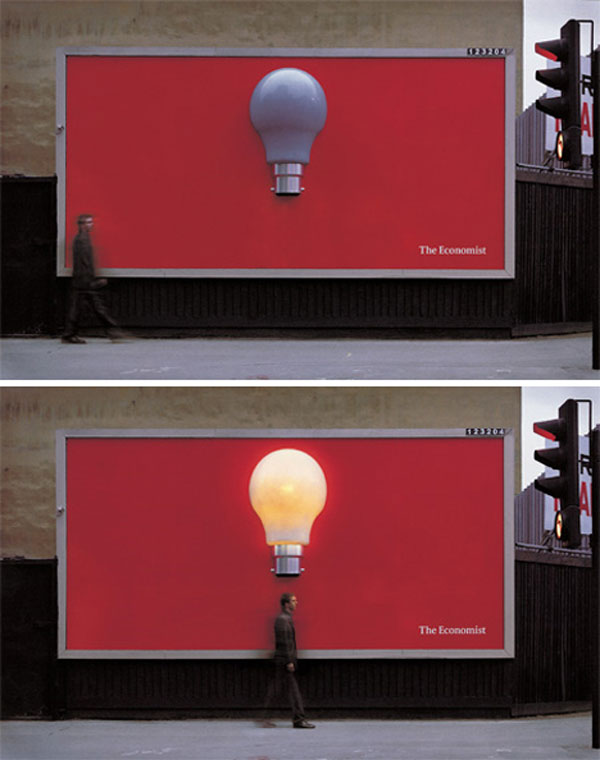 The Economist Light Bulb Creative Billboard