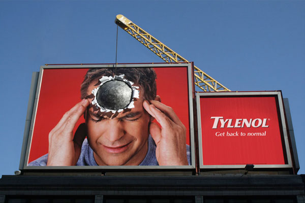 Tylenol Ball Creative Billboard