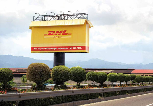 UPS DHL Giant Box Creative Billboard
