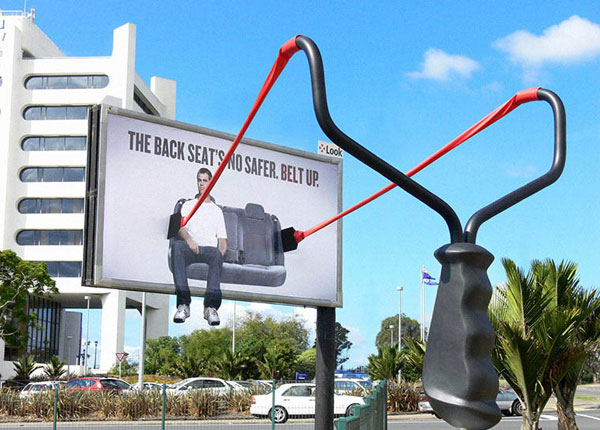 Wear Seat Belts Creative Billboard