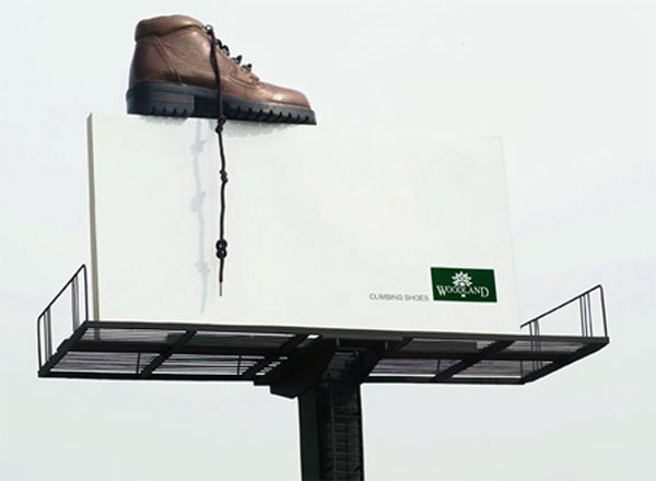 Woodland Shoe Creative Billboard